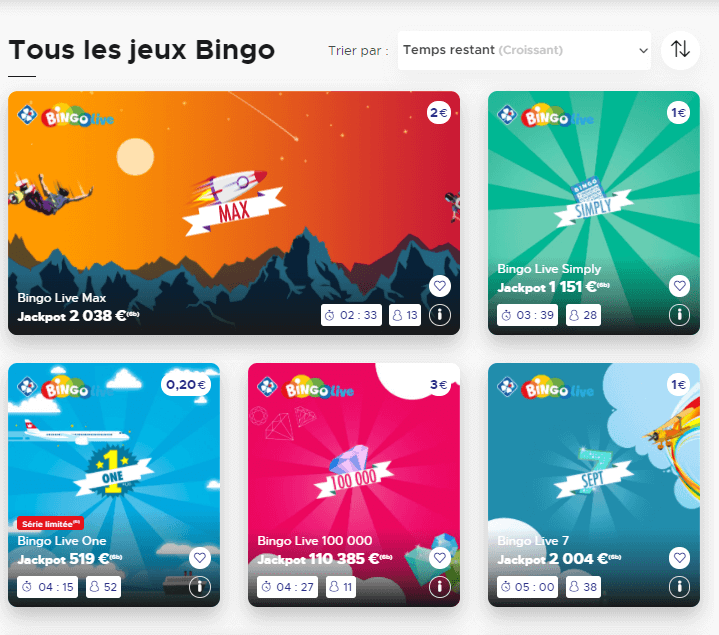 Jeux de bingo chez FDJ France